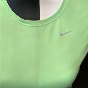 Lime green Nike short sleeved top